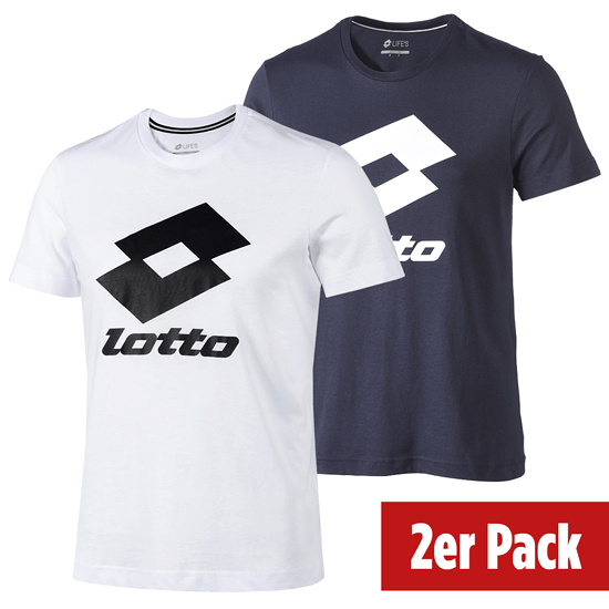 Lotto T-Shirt Smart Logo 2er Set navy/weiß/schwarz