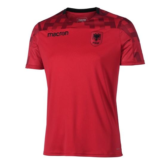 Macron Albanien Trainingsshirt Sprint rot