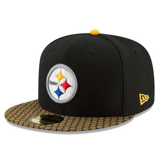 New Era Pittsburgh Steelers Cap NFL 2018 59FIFTY Sideline schwarz
