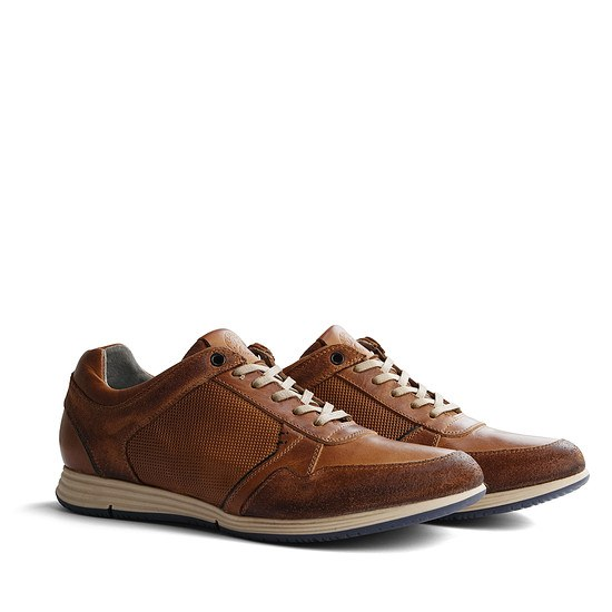 TRAVELIN OUTDOOR Sneaker Corton Leather cognac