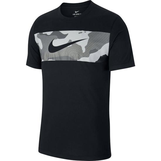 Nike T-Shirt CAMO Print Schwarz