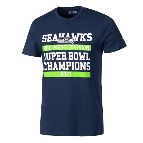 New Era Seattle Seahawks T-Shirt Large Graphic blau