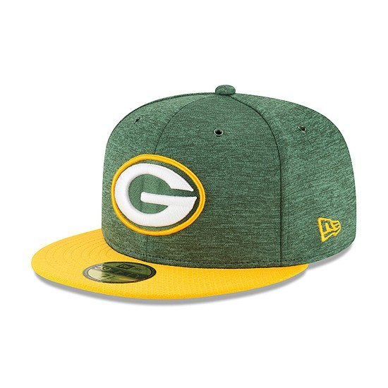 New Era Green Bay Packers Cap 59FIFTY Sideline Home grün/gelb