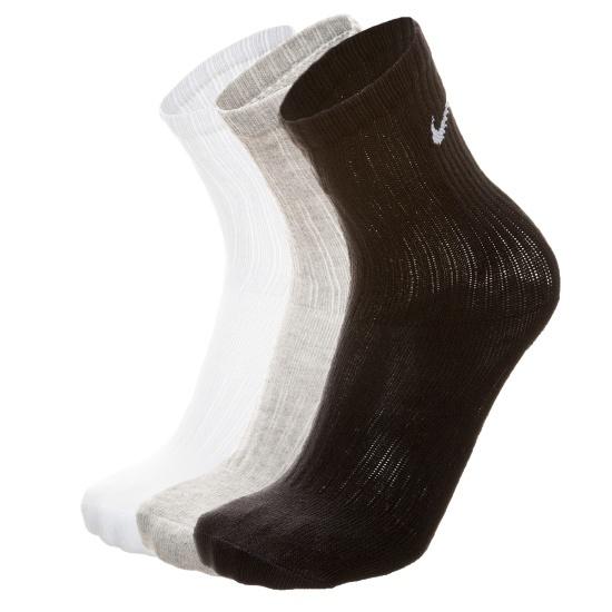 Nike Socken Value Cotton 3er-Pack Grau/Schwarz/Weiß