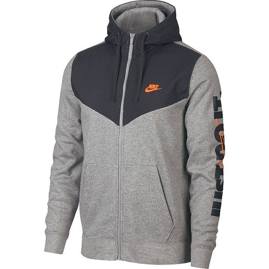 Nike Kapuzensweatjacke JUST DO IT Grau