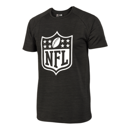 New Era NFL Shield T-Shirt Engineered Raglan schwarz