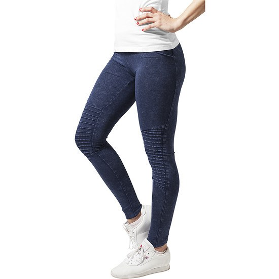 URBAN CLASSICS Leggings Denim Jersey Damen Indigo