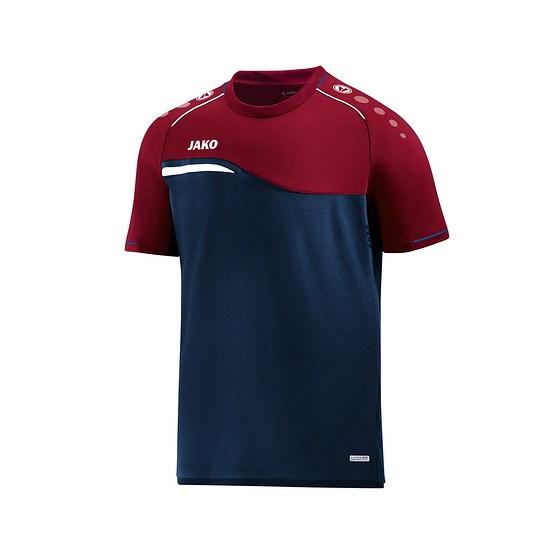 Jako T-Shirt Competition 2.0 marine/dunkelrot