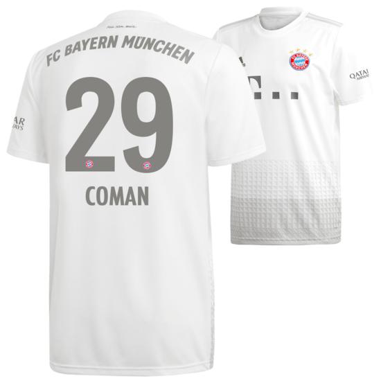 Adidas FC Bayern München Auswärts Trikot COMAN 2019/2020 Kinder