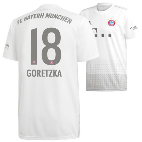 Adidas FC Bayern München Auswärts Trikot GORETZKA 2019/2020 Kids