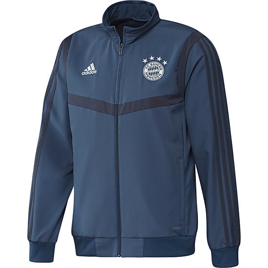 Adidas FC Bayern München Präsentations-Jacke 2019/2020 Blau