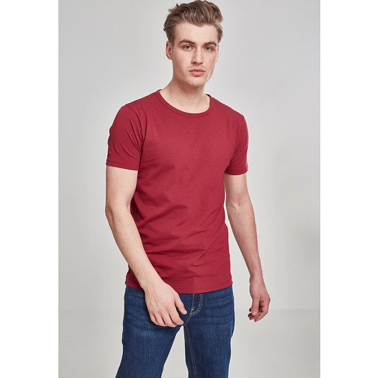 URBAN CLASSICS T-Shirt Fitted Stretch Burgunder