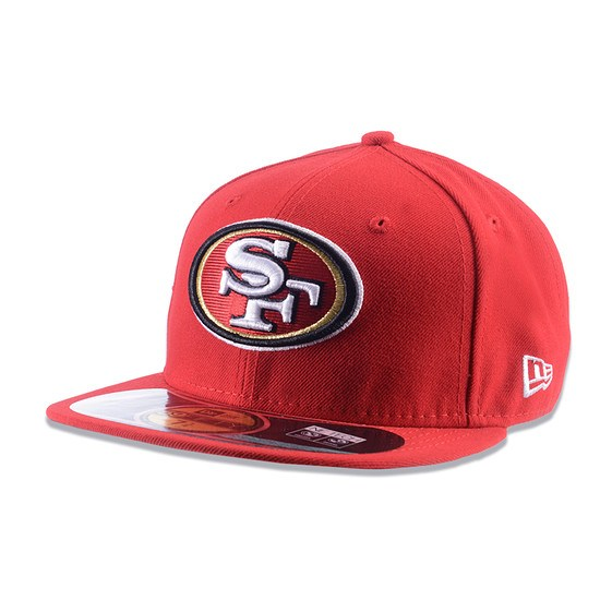 New Era Cap Authentic San Francisco 49ers On Field rot/weiß