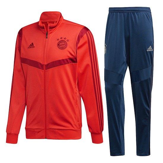 Adidas FC Bayern München Trainingsanzug 2019/2020 Rot/Blau