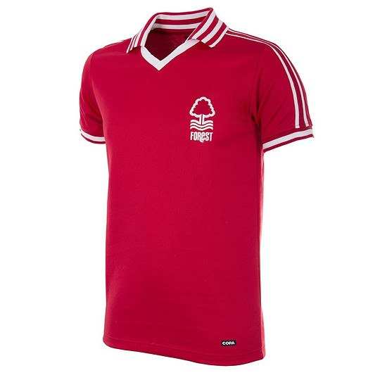 Copa Nottingham Forest 1976/77 Short Sleeve Retro Shirt