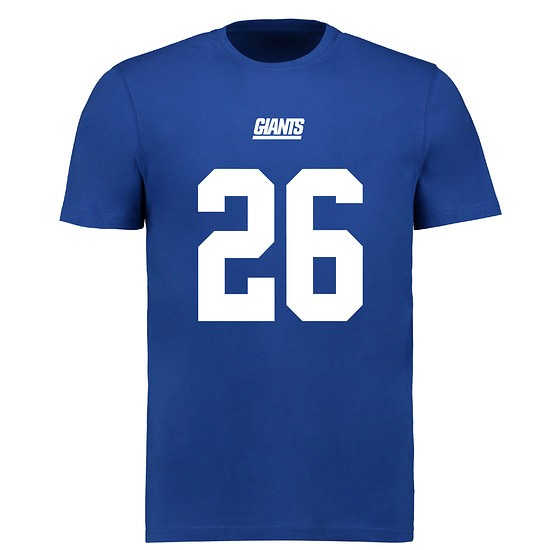 Majestic Athletic New York Giants T-Shirt N&N Barkley No 26 royal