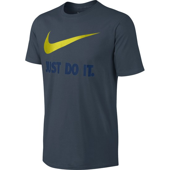 Nike T-Shirt Just Do It Swoosh Blau/Gelb