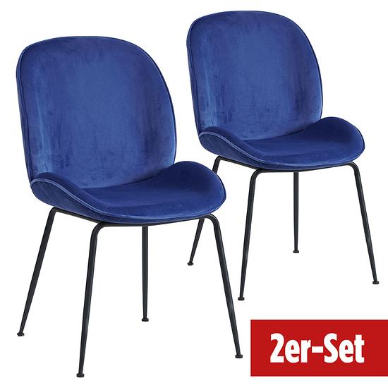BREAZZ Stuhl Ladybug Velvet 2er Set blau