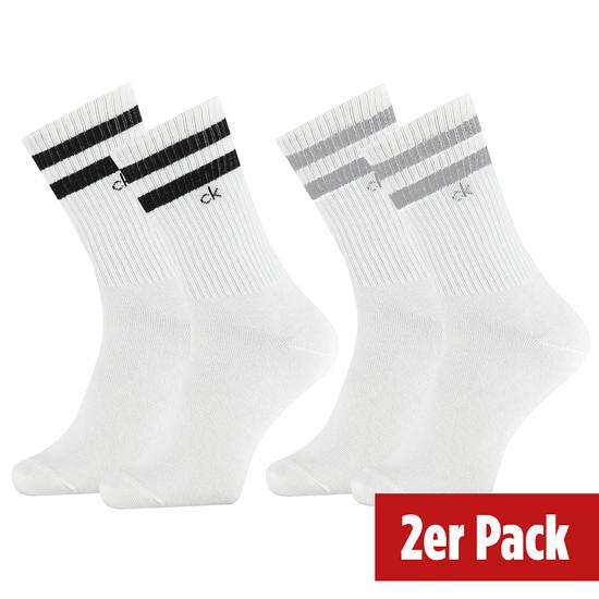 Calvin Klein Socken 2er Pack CREW MAURICE Weiß