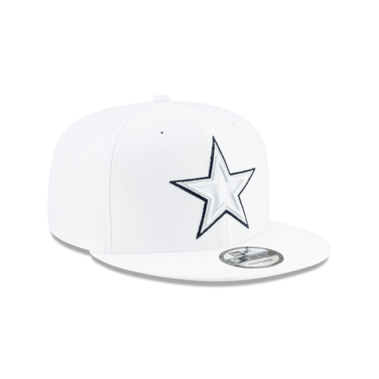 New Era Dallas Cowboys Cap On Field Platin 9FIFTY weiß