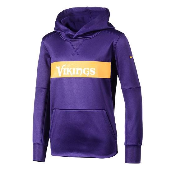 Nike Minnesota Vikings Hoodie Therma Kinder lila