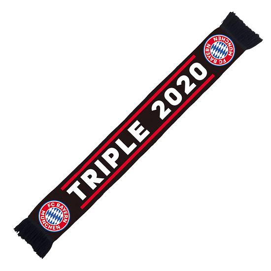 FC Bayern München Schal Triple 2020 Schwarz