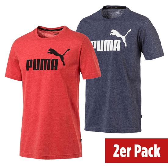 Puma T-Shirt ESS 2er Set Blau/Rot