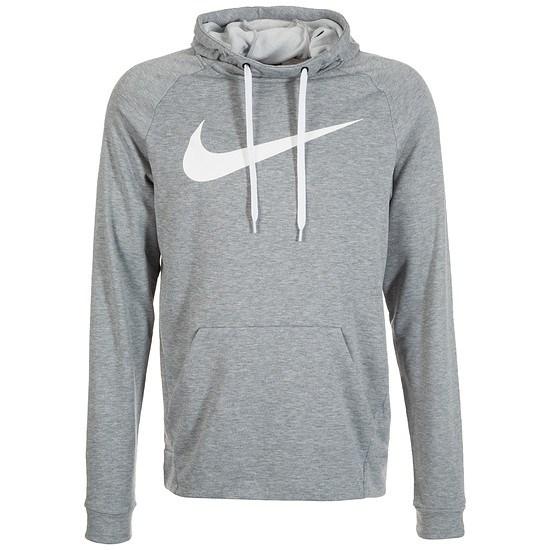 Nike Hoodie Performance Dry Fit Hellgrau