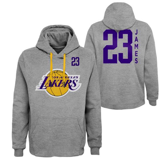 Outerstuff EMEA Los Angeles Lakers Hoodie Lebron James G.O.A. grau