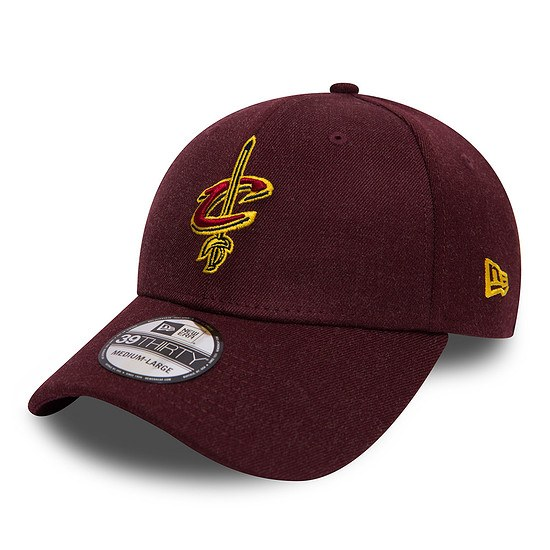 New Era Cleveland Cavaliers Cap Team Heather 39THIRTY kastanie