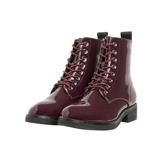URBAN CLASSICS Boot Lace burgunder