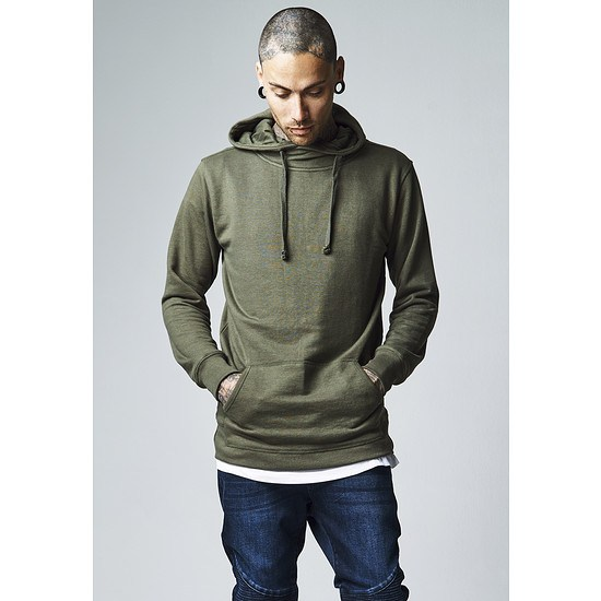 URBAN CLASSICS Hoodie Loose Terry Long olive