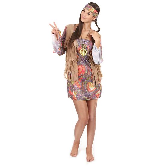 Karnevals- Kostüm Hippie 60er Jahre Damen bunt
