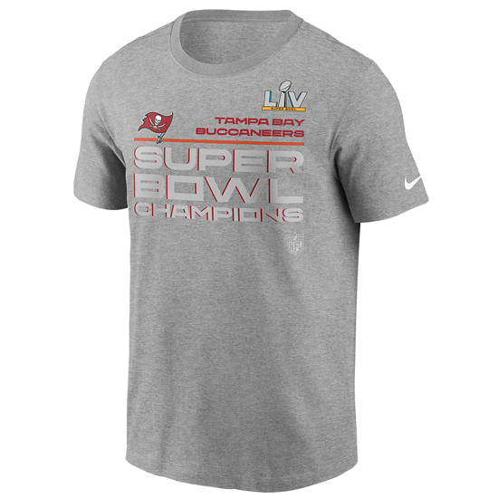 Nike Tampa Bay Buccaneers T-Shirt Super Bowl Champions Locker Room grau