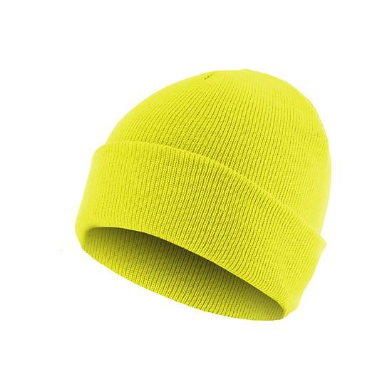 MasterDis Beanie Basic Flap Neongelb