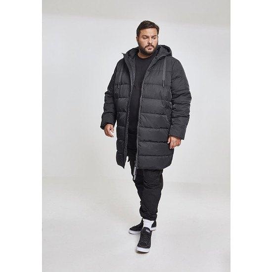URBAN CLASSICS Mantel Hooded Puffer schwarz