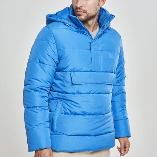 URBAN CLASSICS Winterjacke Pull Over Puffer blau