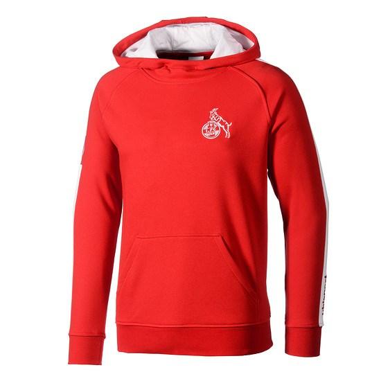 uhlsport 1. FC Köln Hoodie Retro 1948 rot/weiß