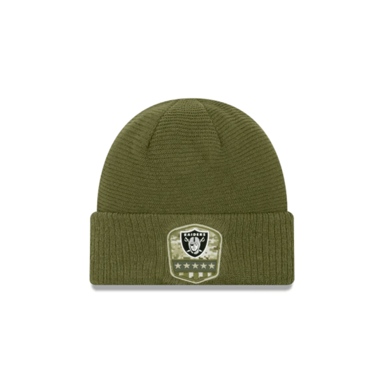 New Era Las Vegas Raiders Beanie Salute To Service oliv