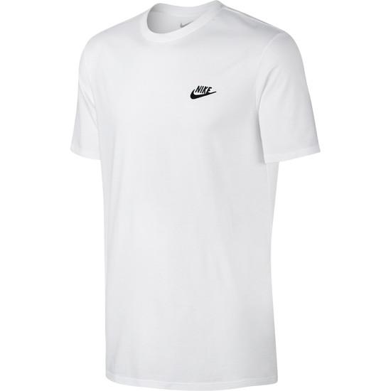 Nike T-Shirt Club Futura Weiß/Schwarz