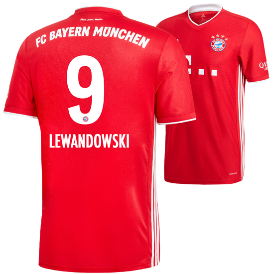 Adidas FC Bayern München Heim Trikot Lewandowski 2020/2021 Kinder
