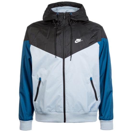 Nike Kapuzenjacke Windrunner blau/schwarz