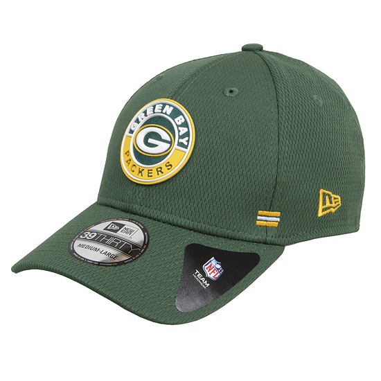 New Era Green Bay Packers Cap Road 39THIRTY Sideline 2020 grün