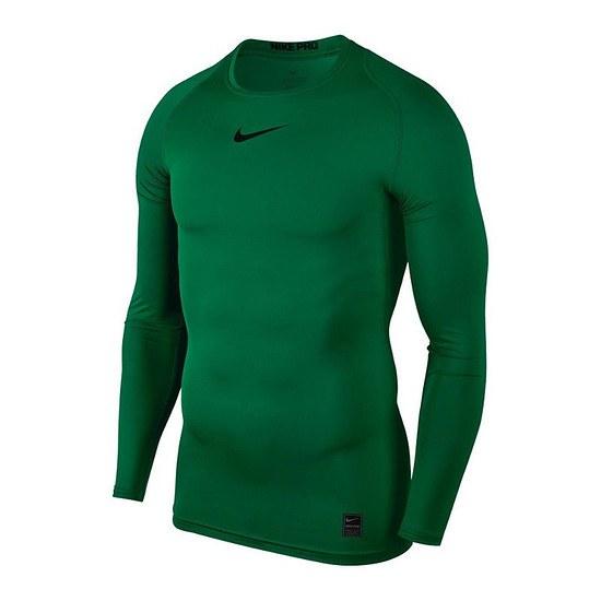 Nike Pro Langarmshirt Top Compression Crew Grün