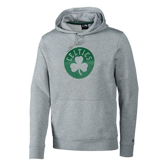 New Era Boston Celtics Hoodie Pop Logo grau