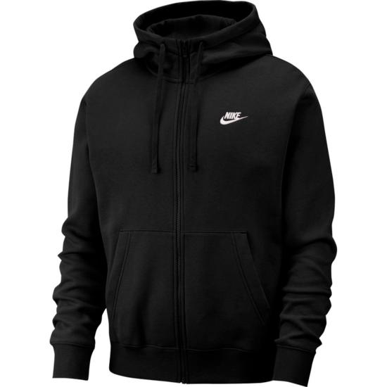 Nike Kapuzensweatjacke Sportswear Club Fleece Schwarz