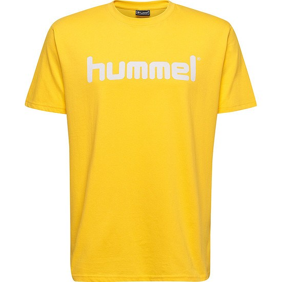 hummel T-Shirt Cotton Logo gelb