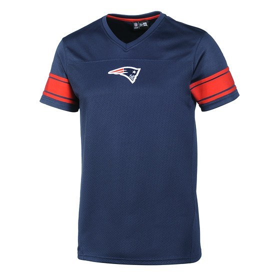 New Era New England Patriots T-Shirt Supporters Jersey blau
