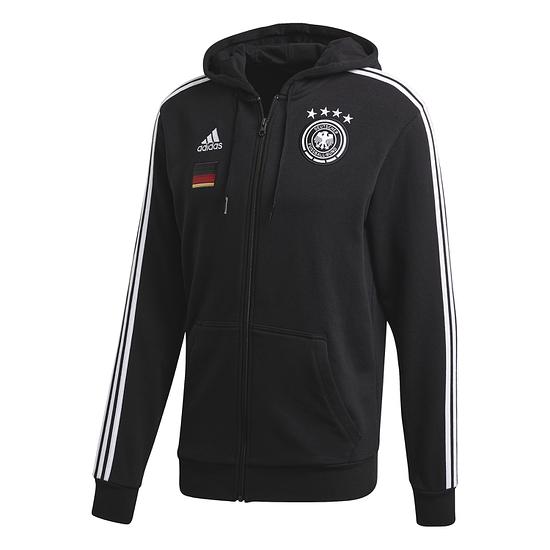 Adidas Deutschland DFB Zip Hoodie EM 2021 Schwarz