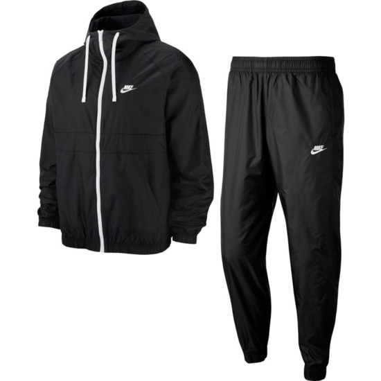 Nike Trainingsanzug Hooded Schwarz